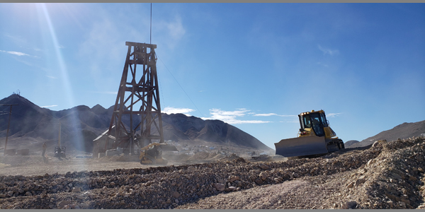 EPS re-contouring the Silver Top Headframe Dump before restoration begins. Posted 1/11/2019.
