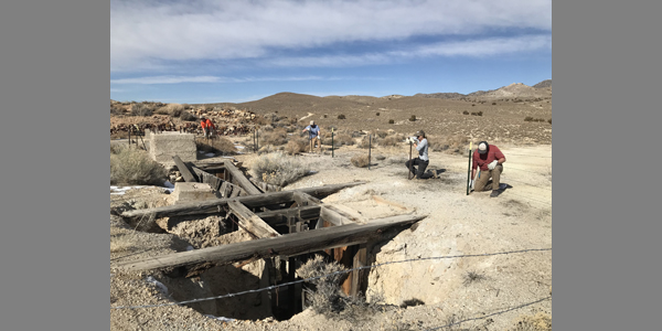 AML Interns securing a shaft in Nye County: 01/14/2020