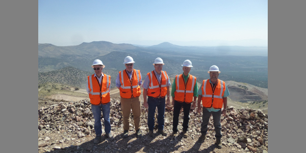 Commission on Mineral Resources tour of McEwen Mining's new Gold Bar Mine, Eureka County, NV. 8/24/2018