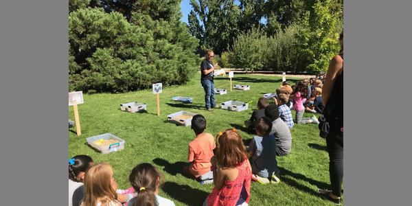 NDOM employees educate 2nd grade students about rocks, minerals and the dangers of abandoned mines at Idlewild Park in Reno, Nevada.