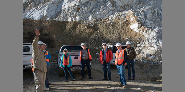 CMR: Commission on Mineral Resources visits ACG Materials' Adams Claim Mine, Lyon County, December 2017.